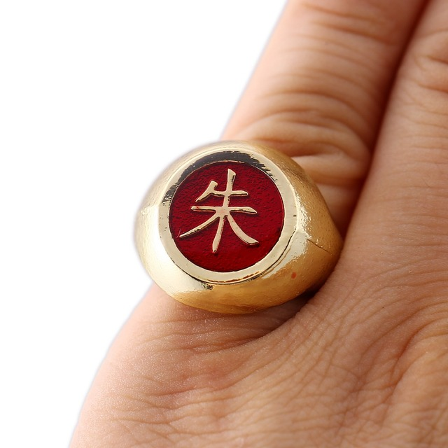 Naruto Akatsuki Gold Men Women Ring