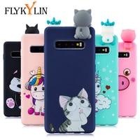 FLYKYLIN-funda de gato para Samsung Galaxy S10 Plus, funda de silicona suave de TPU para Samsung S10e, S9, S8 Plus, S7 Edge, juguetes en 3D