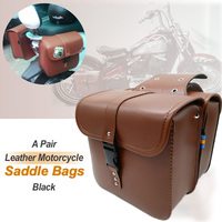 Motorcycle Pu Leather Side Tool Bag Luggage Saddle Bags For Harley Sportster XL 883 XL 1200 XL883 XL1200 Brown