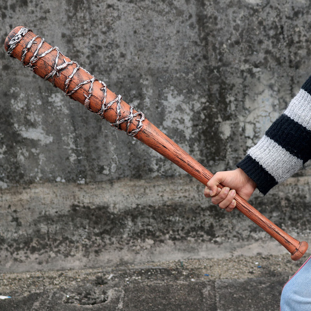 82cm The Walking Dead tool Negan Action Figure Toy model Weapon Cosplay PVC baseball bat softball bit stick Toys 2