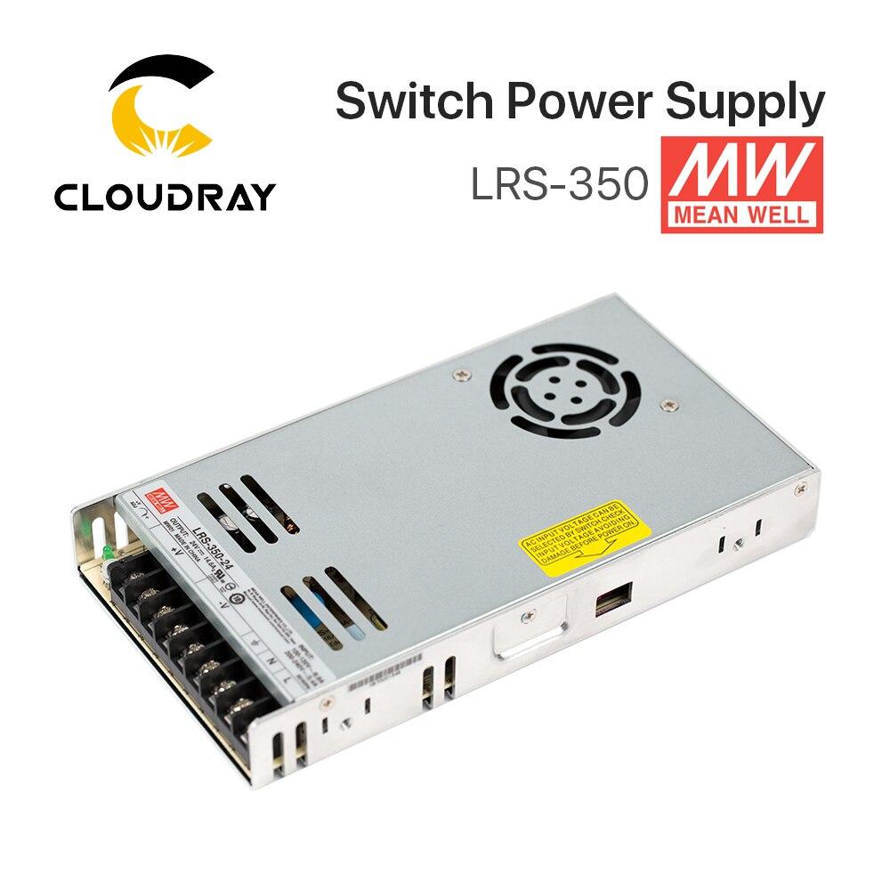 Meanwell LRS-350 potencia de conmutación fuente de alimentación de 12 V 24 V 36 V 48 V 350 W Original MW Taiwán marca LRS-350-24