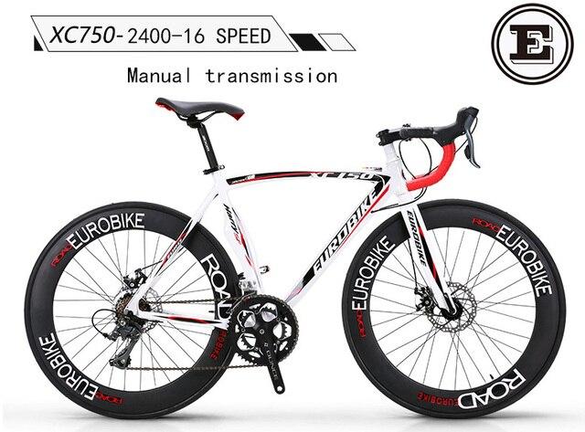 eurobike xc750 road bike 700c bicycle racing bike 14 16 speed bike