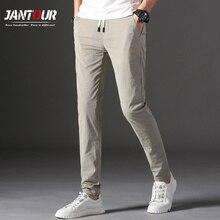 ブランド男性パンツ2020新デザインカジュアルhombres pantalones綿スリムパンツ男性のズボンのファッションビジネスネクタイパンツ男28 38スキニーパンツ