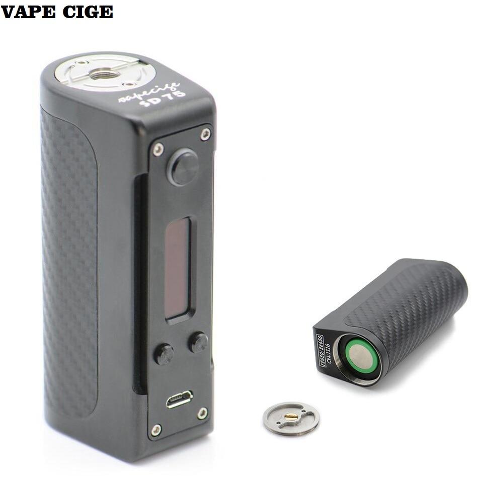 Original Electronic Cigarette VAPE CIGE Mega Kit Shinny polished DNA75 chipset Lost Vape 75W Box Mod VT75 nano SD MINI 75 батарейный блок lost vape therion dna166