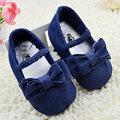 Детские Девушки Мягкой Подошвой Обувь Милые Малыша Бант Синий Джинсовые Резинка Prewalker