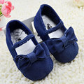 Baby Girls Soft Sole Shoes Cute Toddler Bow-Knot Blue Denim Elastic Band Prewalker