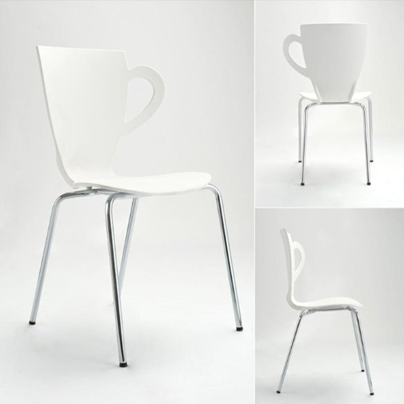 купить New ,fashion chair,metal dining chair,living room furniture,metal + plastic furniture,Colors chair,tea cup chair дешево