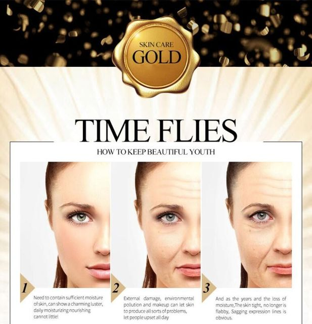 24K Gold Collagen Face Mask Crystal Gold Collagen Facial Mask Moisturizing whitening Anti-aging Face Skin Care Korean Cosmenics 5