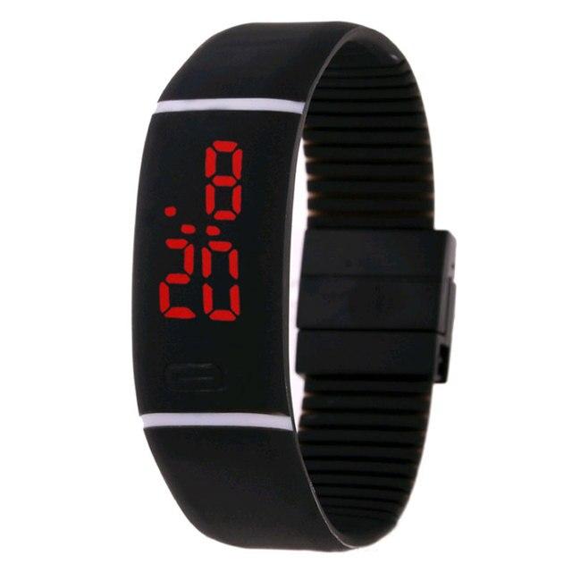 Средней школы для отдыха спортивные часы горизонтальные желе браслет электронные дети часы