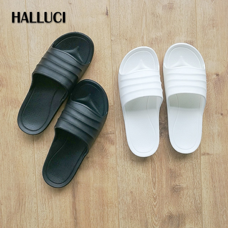 HALLUCI beach comber terlik couples slides home slippers women shoes sandals shoes zapatos mujer flip flops chaussures femme halluci breathable sweet cotton candy color home slippers women shoes princess pink slides flip flops mules bedroom slippers