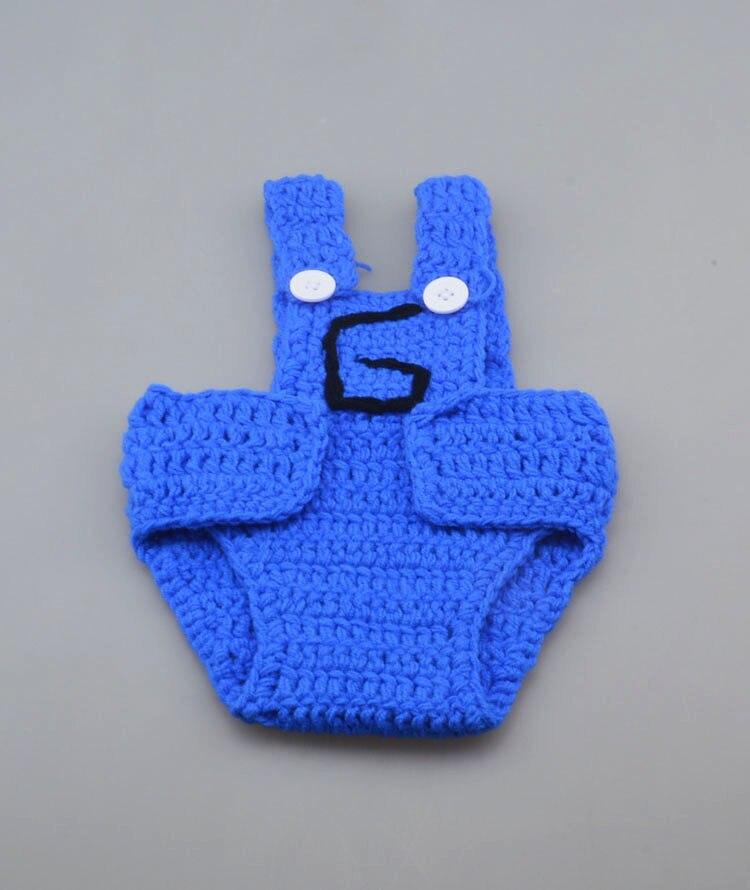 Nueva Crochet Secuaces Sombrero Suspender Pantalones Conjunto ...