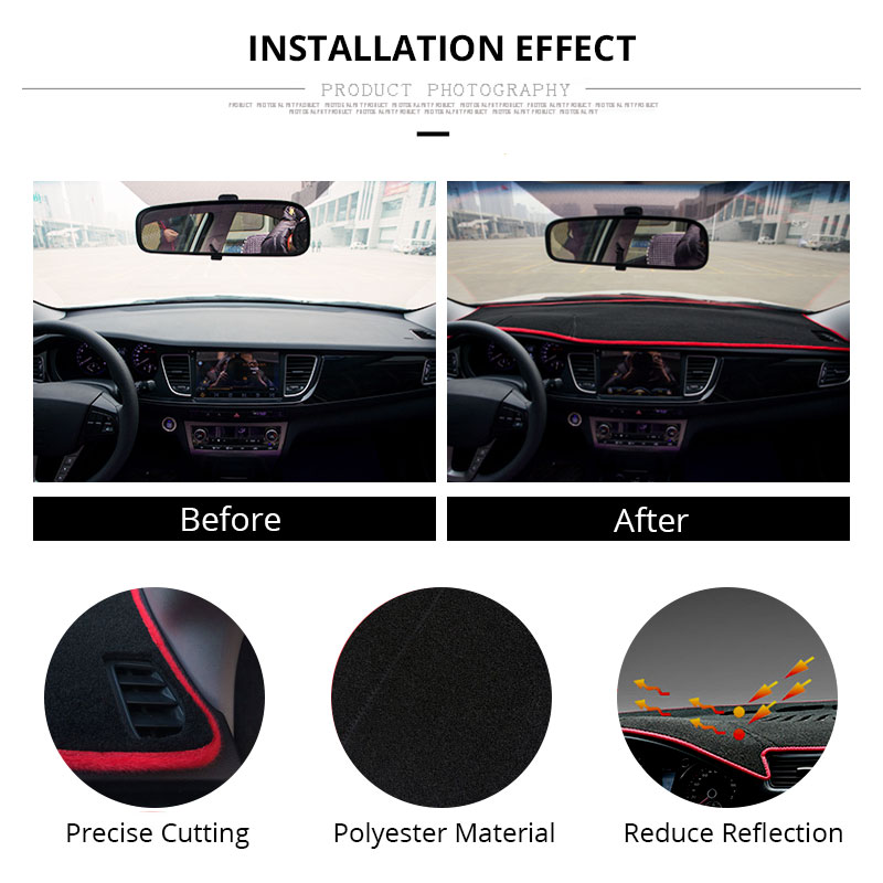 Image 5 - For LHD Ford Focus 2 3 2017 2016 2015 2014 2013 2012 2011 2010 2009 Car Dashboard Cover Mat Protect Pad Cover Car Accessories-in Gauge Trim from Automobiles & Motorcycles