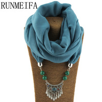 RUNMEIFA 2017 Newest Design The Hanging Scarf Adorns The Scarf Use The Gauze Material All