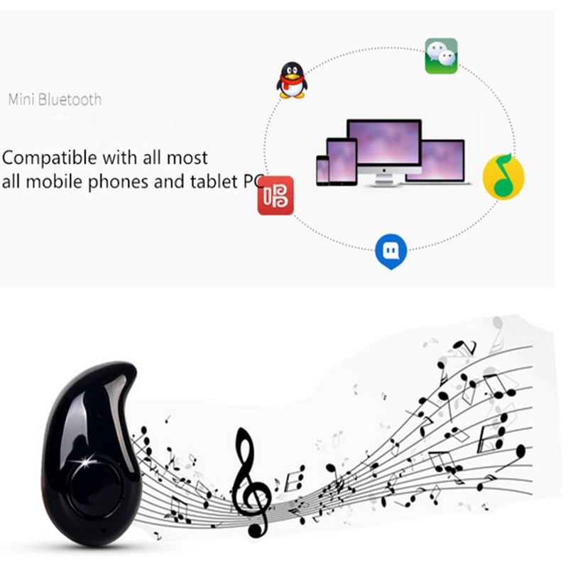 Mini Bluetooth 4.0 Earphone Stereo Light Wireless Invisible Headphones S530 Super Headset Music answer call Hot
