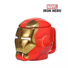 Marvel 3D iron man coffee mugs cool cups and mugs with cover home office tea milk mark kid gifts creative drinkware(China)