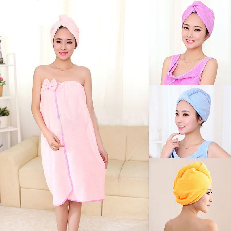 Bathroom Products Able Shower Cap Coral Velvet Solid Color Ladies Shower Cap Bath Super Absorbent Fast Drying Fiber Towel Dry Hair Salon Towe Hotel