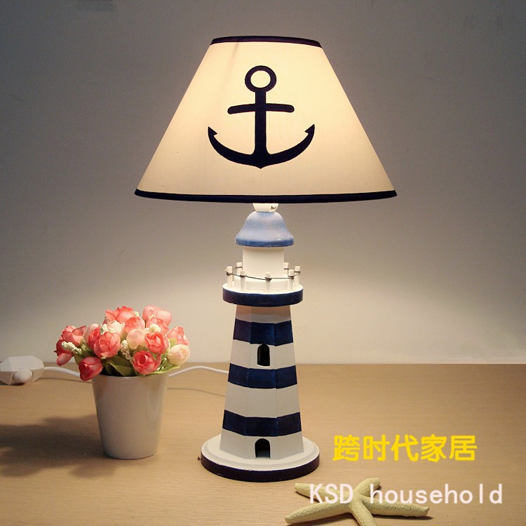 Wooden Base Table Lamp Bedroom Living Room Study Room