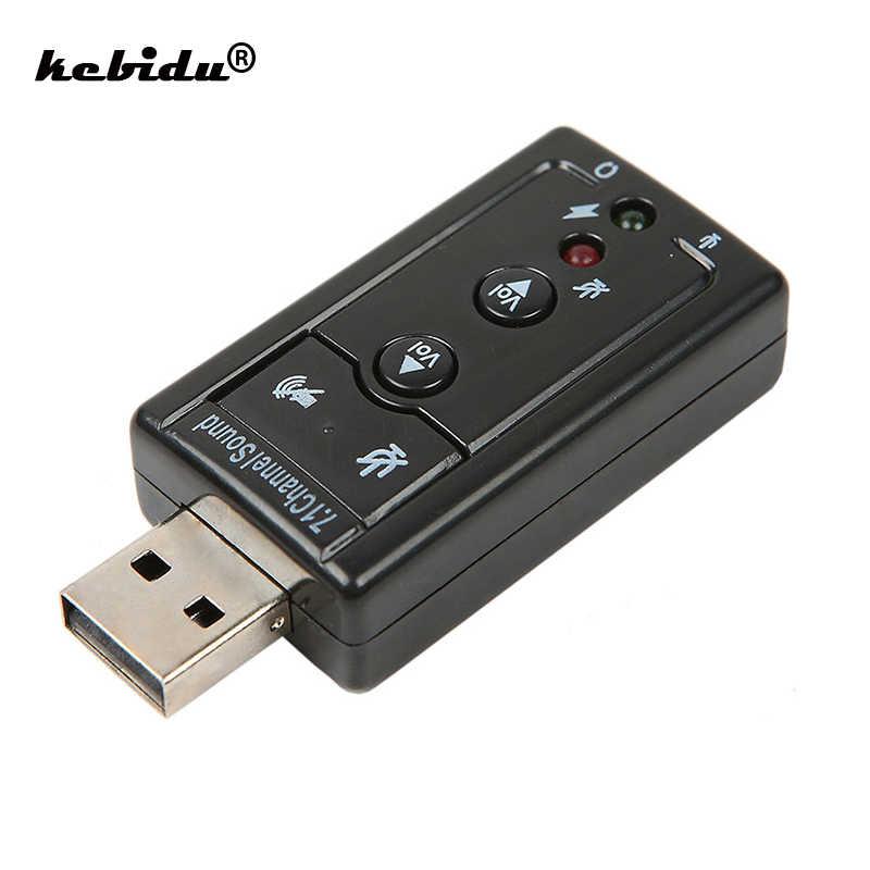 Мини Внешний USB 2,0 Звуковая карта 7,1 канал 3D виртуальный 12 Мбит/с аудио микрофон динамик Адаптерный микрофон 3,5 мм разъем стерео гарнитура