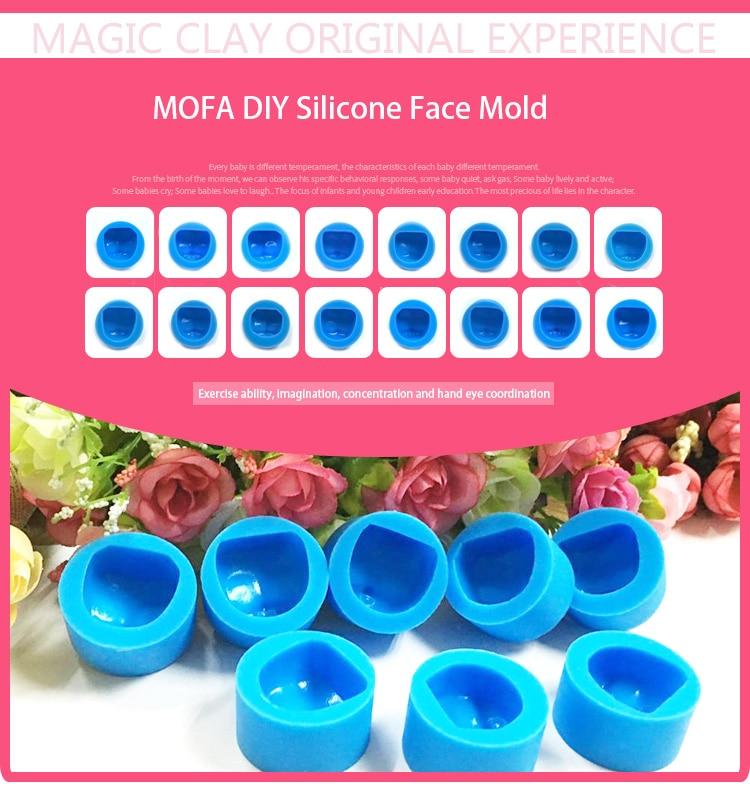 leve argila molde azul sílica gel não deforma
