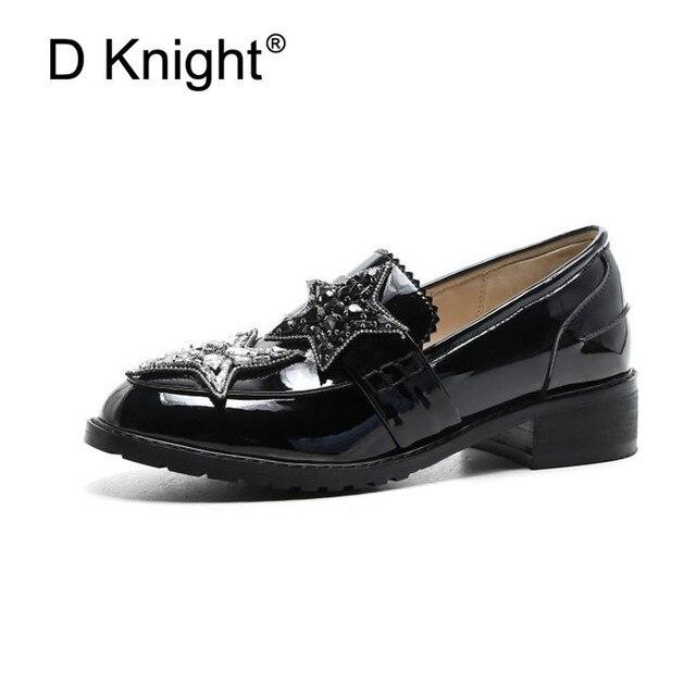 b513fd27cf Colegio británico mocasines de mujer genuino cuero negro Simple dama zapatos  Oxford planos de primavera nueva