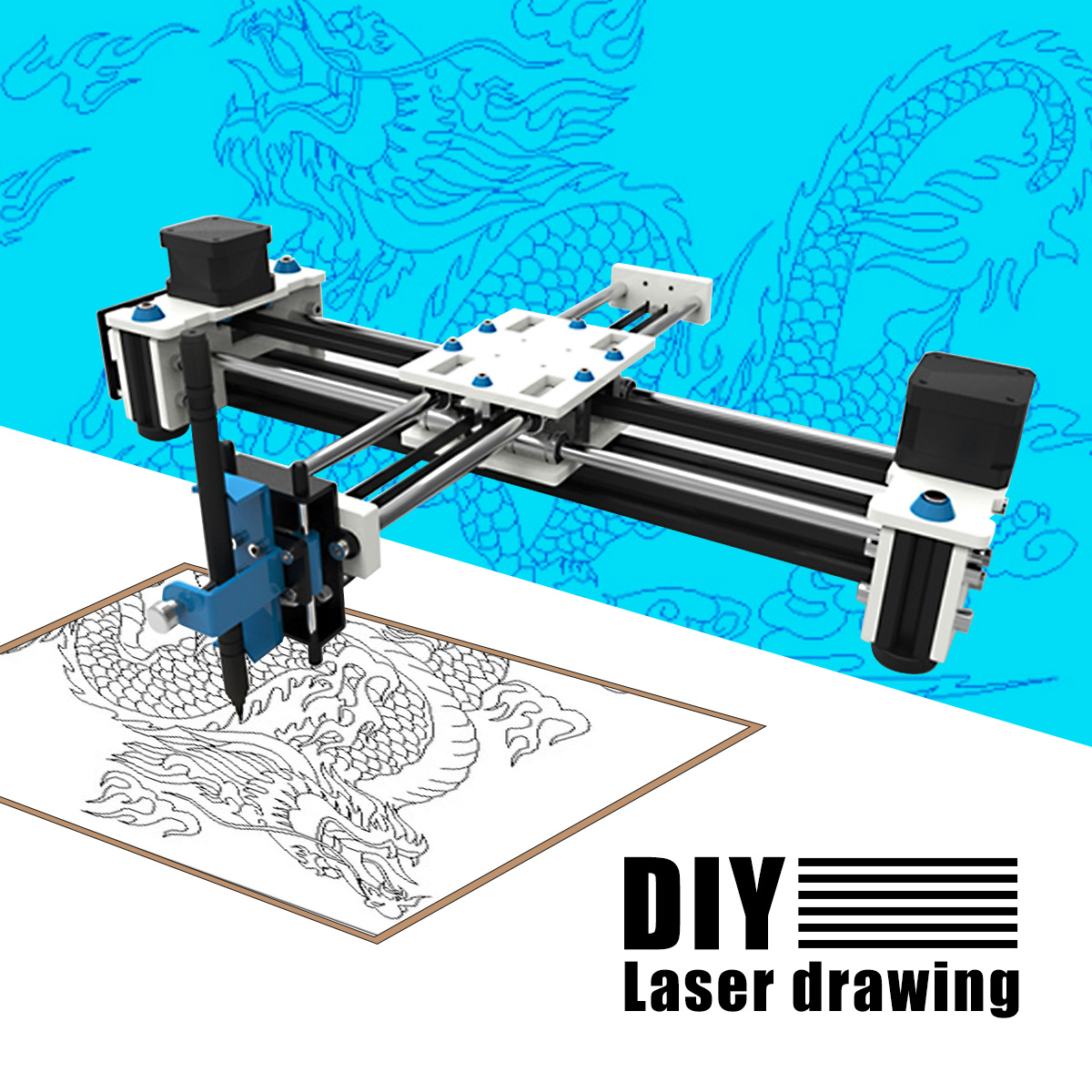 280x200mm Mini XY 2 Axes CNC Traceur Stylo USB BRICOLAGE Laser Machine de Gravure Zone Bureau Dessin robot