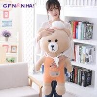 1pc 60/80cm Cute Teddy Bear Plush Toy kawaii Big Animal Navy Bears Pillow Stuffed Toys Children Baby Kids Birthday Gift Toy