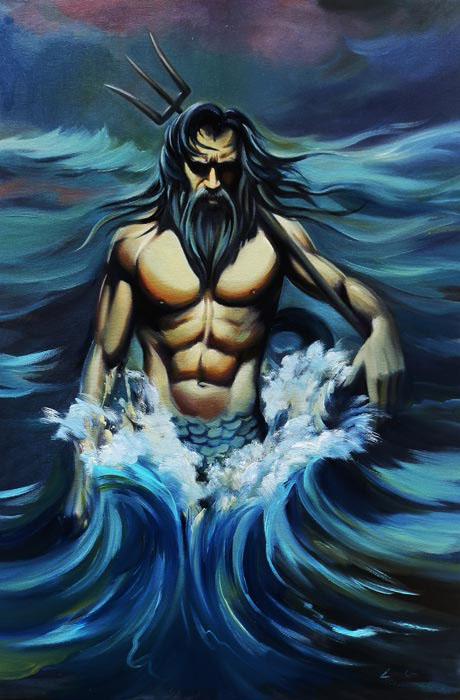 NUDE MALE ART Poseidon Oil Painting 2019 Home TOP Decor ART Oil Painting Art  Work 36 INCHES FREE Shipping Cost In Plaques U0026 Signs From Home U0026 Garden On  ...