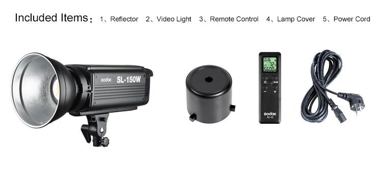 Godox SL-100 2400LUX Studio LED Continuous Video Light Bowens Mount (18)