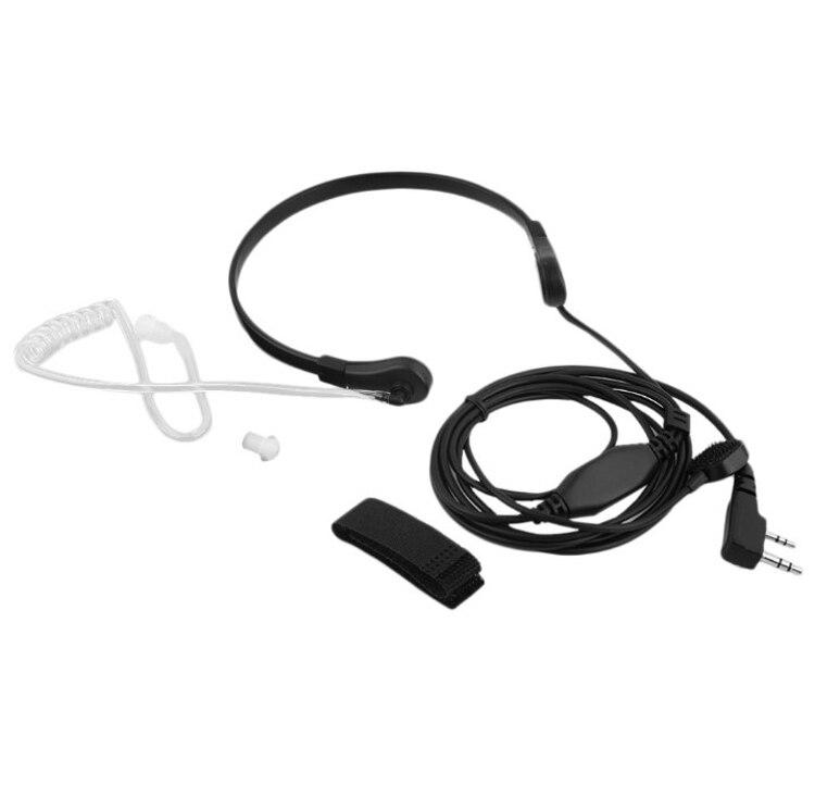 5pc Vibration Throat Microphone Mic PTT Air Tube Headset Headphone For Baofeng Radio UV3R+ Plus UV5RB UV5RC UV-B5 UV-B6 BF-888s