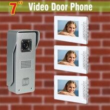 7 inch screen video doorbell intercom system Aluminum alloy door camera video door phone intercom Kit for Villa Home office