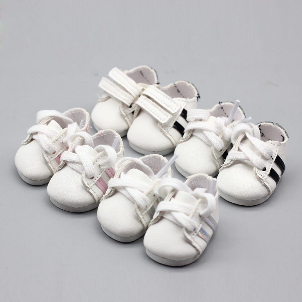 1pair 4.5*2.7cm Mini PU Toy Shoes For 14.5 Inches Wellie Wisher Doll Doll Accessories As For EXO BJD Dolls Boot Toy