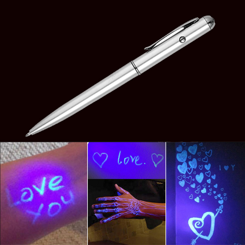 все цены на Cute Magic Invisible Ink Ballpoint Pen with LED UV Light Creative Secret Spy Pen For Kids Novelty Gift School Stationery Supply