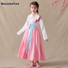 2019 new children traditional ancient chinese girls red hanfu girl folk dance costume kids tang fairy dress china clothing