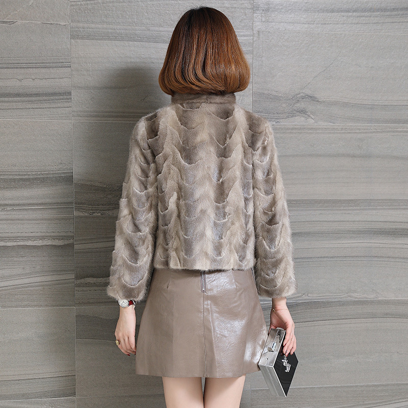 Brown Automne Femmes Court La Vêtements Manteaux Manteau Taille Mujer My1086 Vintage Veste Coréennes Chaqueta Vison Fourrure 2018 De Plus D'hiver Real FwxwR