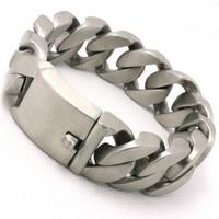 BC144 195g 22MM Dull Polish Cool Man Bracelet 316L Stainless Steel USA Biker Style Popular Valentine's Day Gift