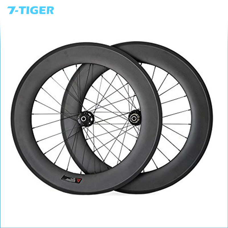 7-TIGER bike Road Carbon Disc Brake 88mm Clincher Carbon Road Bicycle Wheelset Carbon Road Bike Wheels With 23mm 24 and 24h 2018 anima 27 5 carbon mountain bike with slx aluminium wheels 33 speed hydraulic disc brake 650b mtb bicycle