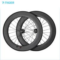 7-TIGER bike Road Carbon Schijfrem 88mm Clincher Carbon Road Fiets Wielset Carbon Racefiets Wielen Met 23mm 24 en 24 h
