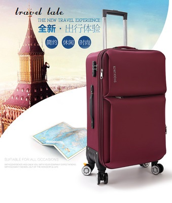 travel tale 20/22/24/26 Inch Rolling Luggage Spinner brand Travel Suitcase Oxford cloth fabrics, fashion and durable
