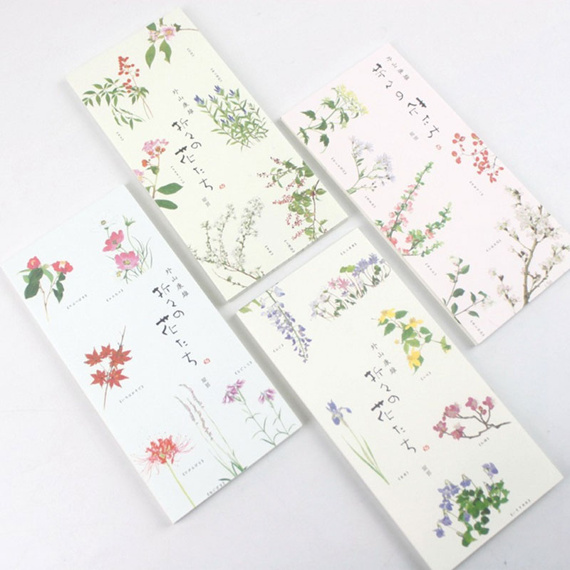 1x Kawaii Flowers Memo Pad weekly plan Sticky Notes Post stationery School Supplies Planner Paper Stickers