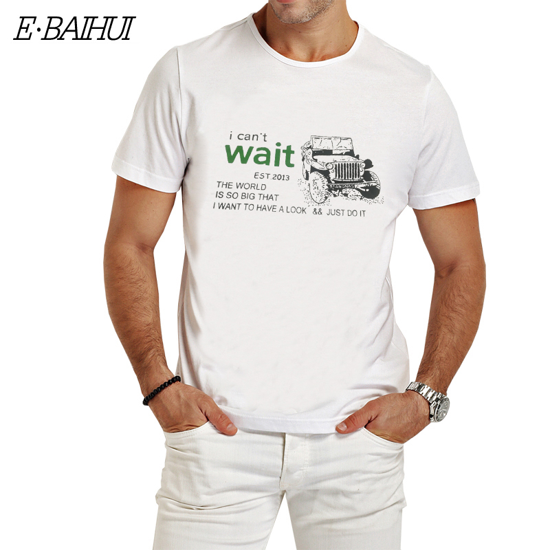 E-BAIHUI brand Summer style   t     shirt   Men Cotton Clothing   T  -  shirtS   casual   t     shirts   man tops tees swag   t  -  shirts   T003