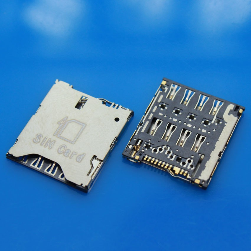 cltgxdd KA-031 5PCS Sim Card Reader Holder Solt Socket for Alcatel idol X one touch OT-6040 6040D 6040 connector holder module