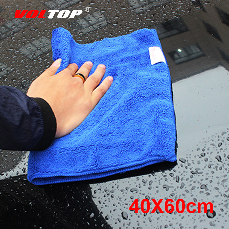 VOLTOP 40X60cm Cleaning Tool Washing Cloths Car Accessories Super Absorp Thicker Microfiber Towel Home Office Care Detailing-in Sponges, Cloths & Brushes from Automobiles & Motorcycles