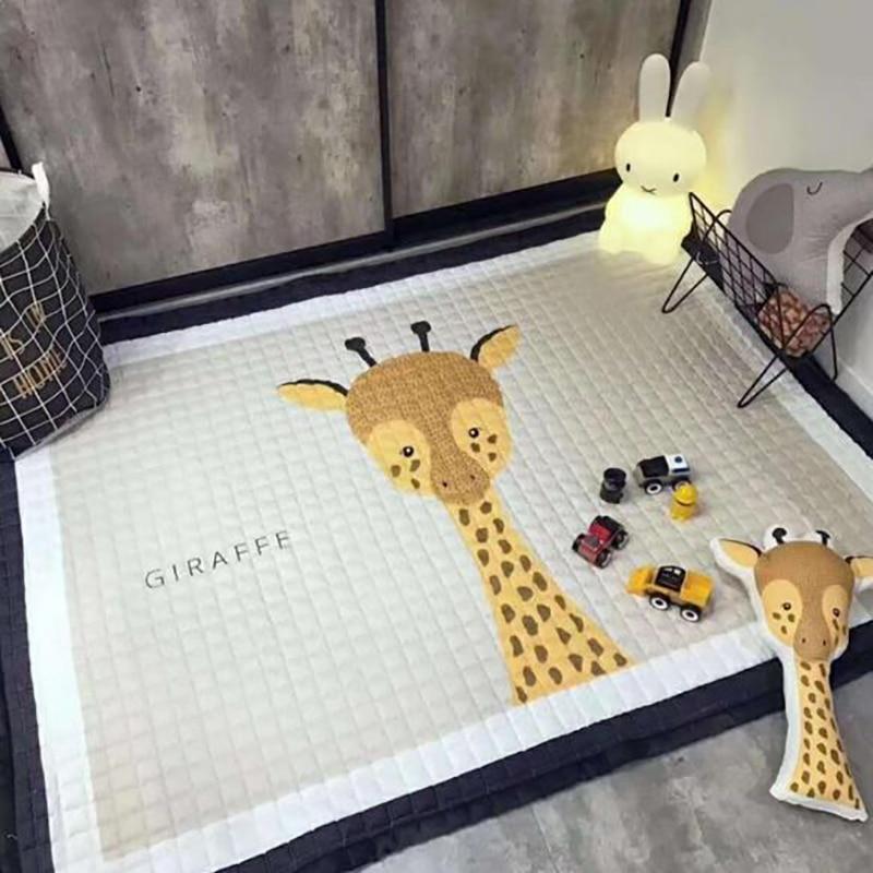 Baby Activity Mat Baby Cotton Playmat Soft Kids Rug Cartoon  Kids Room Mat Non-slip Play Met 145*195cm BXX002