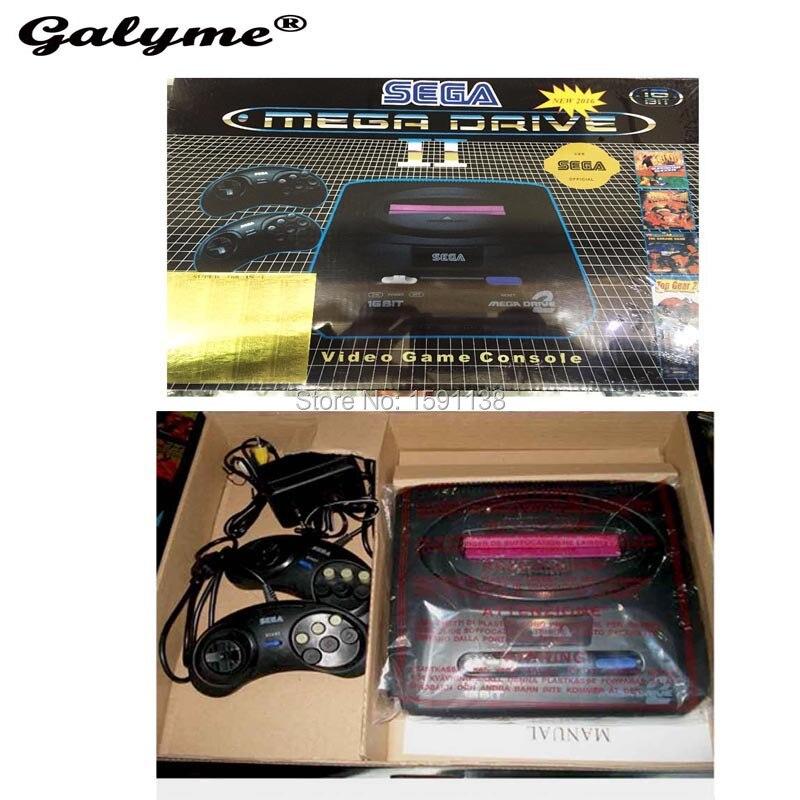 New Arrival Black Color PAL Version EU Plug Game Consoles Fit For Sega MD2 MD 2 TV Video Game Console Classic Card 16 Bit Boy