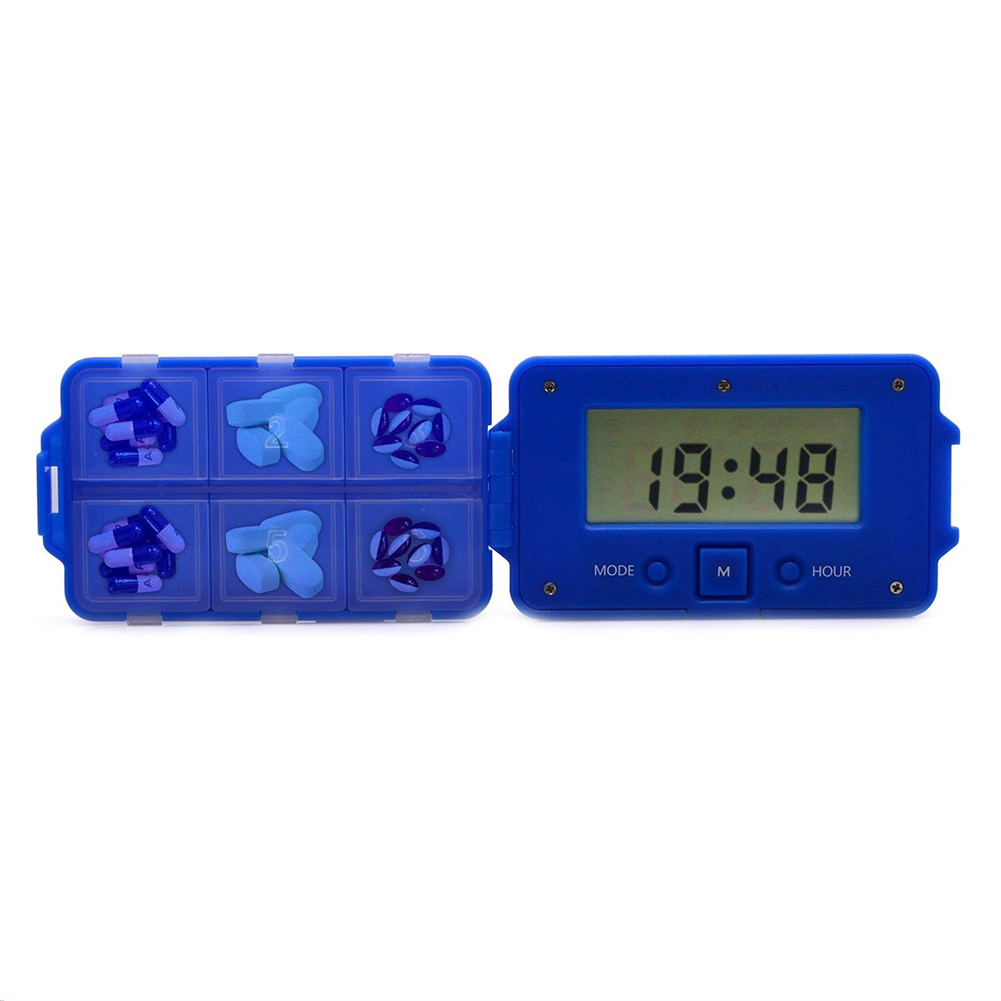 Daily Pill Reminder Box Storage System With 5 Alarms Medicine Travel Kit Elderly Pills Kit Medical Kit Fragrant Aroma