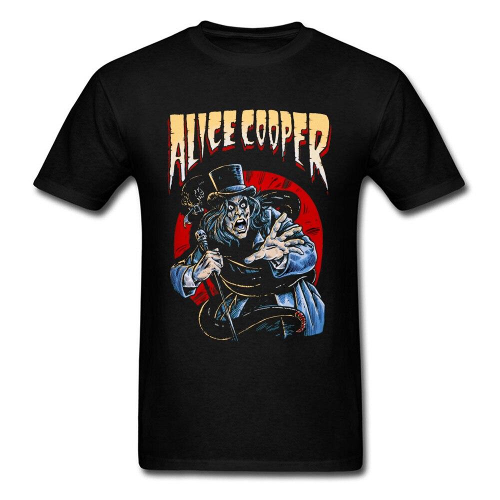 New Alice Cooper Tee Mens T-Shirt 3D Printed Hip Hop Top Shirt Crazy 90s Men Tshirt Black T Shirts Punk Rock Riff Tees Halloween