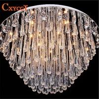 Art Deco Modern Luster Crystal Chandelier Lights Faixture For Foyer Bedroom Hotel Project Flush Mounted Restanrant Led G4 Lamp