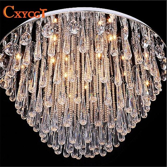Art Deco Modernes Glanz Kristall Kronleuchter Lichter Faixture Für Foyer  Schlafzimmer Hotelprojekt Unterputz Restanrant Led G4