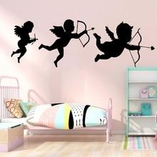 NEW Cupid Vinyl Self Adhesive vinyl Stickers Room Decoration Kids Cute Creative Bedroom Mural adesivo de parede