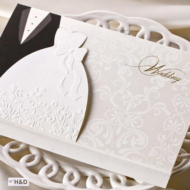 1pcs Sample Laser Cut Wedding Invitations Cards Western Groom U0026 Bride  Customize Printable Envelopes Seals Wedding
